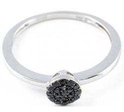 Anello diamanti neri in oro 18Kt BIBIGI'