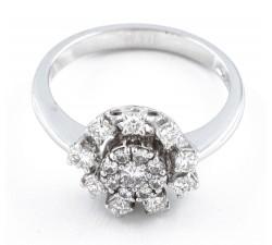Anello diamanti in oro 18Kt BIBIGI'