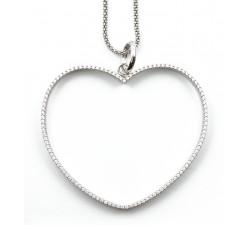 Pendente cuore con zirconi in argento 925