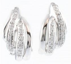 Orecchini diamanti in oro 18Kt
