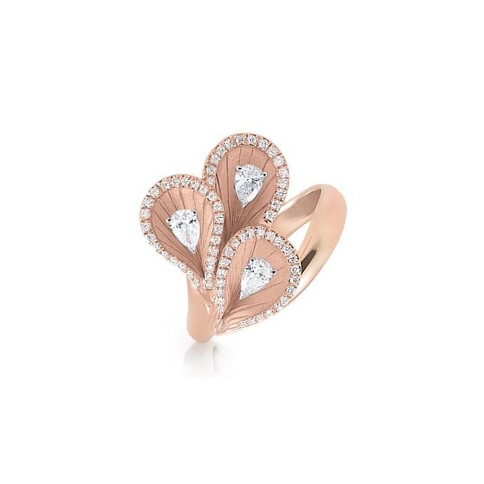 Anello Premiere con diamanti in oro rosa champagne 18Kt GAN1975P Annamaria Cammilli