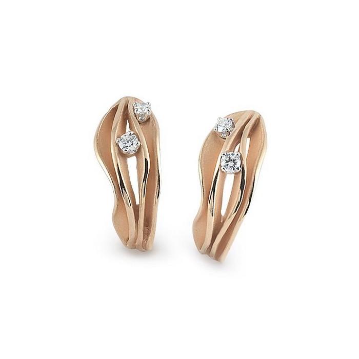Orecchini Dune con diamanti in oro arancio apricot 18Kt GOR0779J Annamaria Cammilli