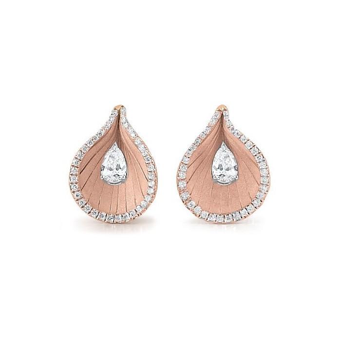 Orecchini Premiere con diamanti in oro rosa champagne 18Kt GOR1972P Annamaria Cammilli