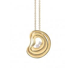 Pendente Dune Atolli con diamanti in oro giallo sunrise 18Kt GPE3084U Annamaria Cammilli