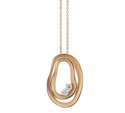 Pendente Dune Embassy con diamanti in oro arancio apricot 18Kt GPE3088J Annamaria Cammilli