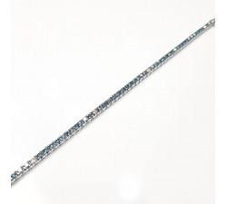 Orecchini pendenti con zirconi in argento 925