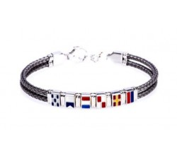 Bracciale bandierine rigido in argento 925 BR1691