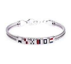 Bracciale bandierine rigido in argento 925 BR1690