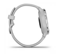 Garmin Venu 2S Ghiera in acciaio inox color argento con cassa grigio polvere e cinturino di silicone 010-02429-12