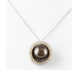 Pendente perla e diamanti in oro 18Kt BIBIGI'