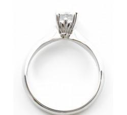 Anello solitario zircone Ct.0,75 in oro 18Kt